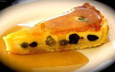 Cranberry & Pistachio Custard Tart