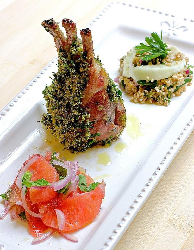 Rack of Lamb with a Parsley, Mint & Garlic Crust