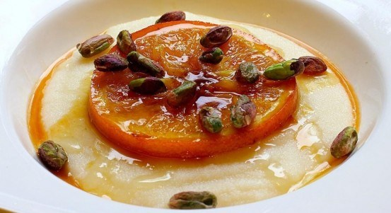 Orange Flower Semolina Pudding